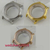 40mm stainless Steel sapphire glass Watch Case 2836 Miyota 8215 821A Movement