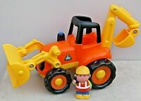 Early Learning Centre ELC BULLDOZER/DIGGER/SCOOP + FIGURE With Sounds/Lights