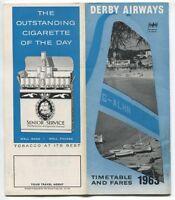 DERBY AIRWAYS TIMETABLE 1966
