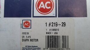 NOS GM CHEVROLET PONTIAC BUICK OLDS AC DELCO AIR CLEANER DIAPHRAGM KIT 6488213