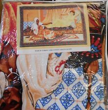 "Wall Hang Tapestry - Sarayli Kadin Ottoman Turkish Arab Woman Baby 54"" x 35"""