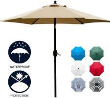 7.5' Patio Umbrella Outdoor Table Market Umbrella with Push Button Tilt/Crank