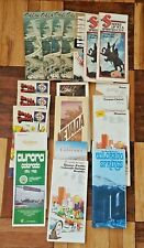 Lot of 20 1980s Road Maps/Motel6 brochures as photo'd Ok. TX Colorado etc.