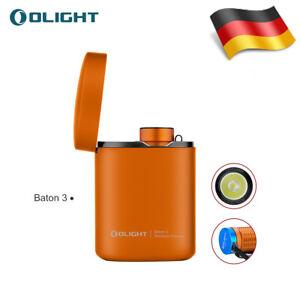 Olight Baton3 Kit Orange 1200LM Taschenlampe w/wireless charger Neu