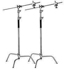 Phot-R 2x Heavy Duty Steel Photo Studio 3.25m C-Stand Century Light Boom Arm Kit