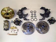 "1962-1967 Chevy II Nova Power Disc Brake 2"" Drop Spindle Kit w/ 9"" Booster 63 64"