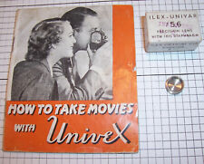 1936 Universal Univex MM Cine 8mm Movie Picture Camera A8 Instruction Book & Box