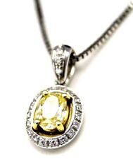 collana DAMIANI in oro bianco 18 kt diamante yellow fancy color ct 0,50
