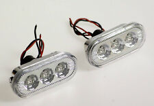 VW CLEAR LED FENDER TURN LIGHTS SIDE MARKERS JETTA GOLF PASSAT 1999 - 2005 MK4