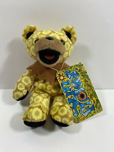 Grateful Dead The Omni Yellow Sunflower Bear Plush 3/2/92 Liquid Blue