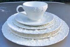Wedgwood Queens Ware Embossed Creamware  (6)piece Dinnerware setting
