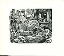 EXLIBRIS,189,Jan Battermann - Akt auf Sofa