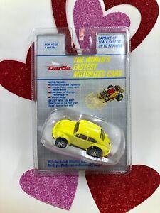 Vintage 1991 YELLOW Darda Pull-Back Self Winding Motor VW Bug Volkswagen Beetle