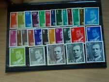 Spain 1976 - 1984 King Juan Carlos definitive low and high values MNH