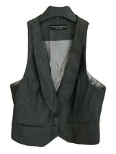 Dorothy Perkins Ladies Grey Tailored Cropped Waistcoat Size 12