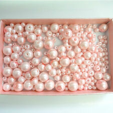 200 Assorted Sizes 4mm 6mm 8mm 10mm Glass Pearl Beads Light Rose
