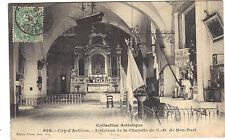 06 - cpa - CAP D'ANTIBES - Intérieur de la chapelle de Notre Dame de Bon-Port