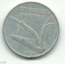 Italia Italy 10 Lire, 1954 KM# 93