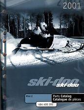 2001 SKI-DOO SNOWMOBILE MINI Z PARTS MANUAL NEW P/N 484 400 193  (198)