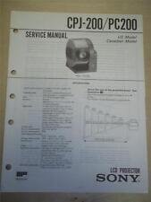 Sony Service Manual~CPJ-200/PC200 LCD Projector~Original~Repair