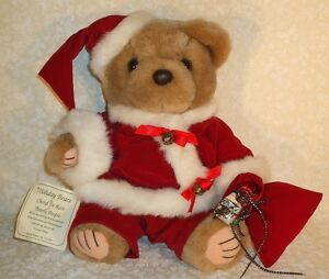 1994 BEARLY PEOPLE CHERYL DE ROSE PLUSH CHRISTMAS HOLIDAY SANTA CLAUS BEAR MWT
