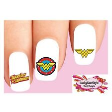 Waterslide Nail Decals Art Set of 20 - Wonder Woman Assorted