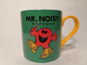 MR MEN, Mr. Noisy by Roger Hargreaves 2014 Mug Cup Tea Coffee Green Yellow