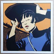 Sérigraphie PRATT Corto Maltese Shangai Li 50x50 cm