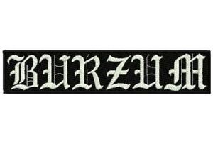 1Burzum embroidered back patch black metal Immortal Absurd pest astral threads