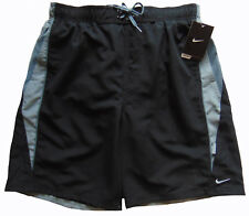Men's NIKE Black Gray Athletic Shorts Swim Trunks S Small NWT NEW Sheds Water