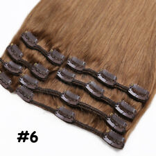 Premium Clip in 100% Real Remy Human Hair Extensions Full Head Weft US Promotion