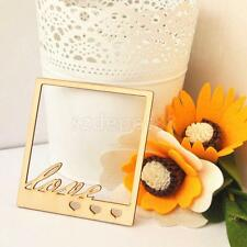 10pcs Unfinished LOVE Wood Photo Frame Craft Shapes Hangers DIY