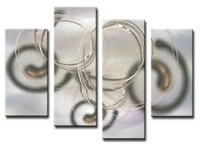 4 PANEL Tot size 90x70cm ABSTRACT ART Large Digital Canvas Print Mist 9