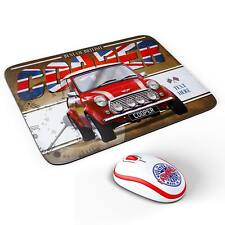 Personalised Mini Cooper Red Classic Car Mouse Mat Pad Computer Dad Gift CL35
