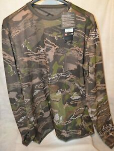 Under Armour Mid Season Reversible Base Crew Shirt Forest 1297423-943 Size XL