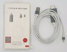 Compatible with iPhone iPad to HDMI Adapter Cable, 1080P Digital AV HDMI