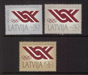 Latvia 1992 Olympic Committee set MNH mint stamps