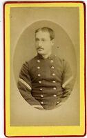 PHOTO CDV AUG. Pittier Bonneville Haute Savoie un militaire pose 30ème régiment