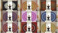 Indien Coton Rideau Mandala Caractéristique Fenêtre Draperie Stores Mural
