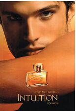 """Publicité Advertising 2003 Parfum pour Homme """"Intuition"""" Estée lauder"""