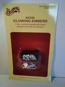 Dollhouse Miniature Glowing Fireplace Embers #2749