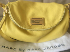 Marc Jacobs Classic Q Natasha Yellow Genuine Leather Crossbody Bag