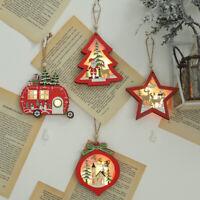 CHRISTMAS TREE HANGING LED LIGHT CAR STAR SHAPE PENDANT HOME ORNAMENT SMART