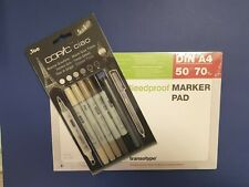 Copic Ciao Manga Marker Warme Grautöne 5+1 Set inkl. Marker Block A4 Grey Tones