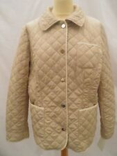JOBIS Ladies Jacket Coat Beige Cream Quilted Diamond Size UK 18 44 New