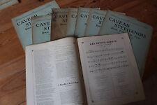 LOT Revue LE CAVEAU STEPHANOIS - Union poétique du FOREZ - Chansons, poèmes 1910