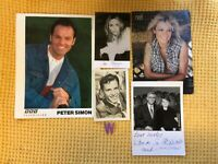 Joblot Of Vintage Signed Photographs Willam G Stewart, Peter Simon, Sinatra