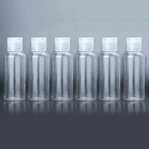 60ml 6x Flip Caps Liquid Shampoo Bottle Travel Plastic Makeup Lotion Container