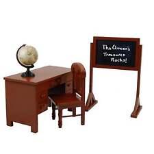 "18"" Doll SCHOOL TEACHER DESK,CHAIR,BLACKBOARD,GLOBE For American Girl Furniture"