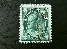 120 Year Old Queen Victoria 67 Canada Stamp! VF Nice! 1c Cent Maple Leaves
